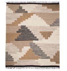 With neutral tones and a bold design, our exclusive Woodmere patchwork rug will stylishly grace your space for years to come. Made from a wool and cotton mix, this handwoven rug is the perfect carpeting complement to a variety of styles.  * Hand woven kilim rug * Use of rug pad recommended * Place in dry, well ventilated area * Imported