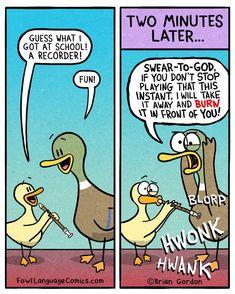 Fowl Language Comics - by Brian Gordon Parenting Classes, Parenting Advice, Kids And Parenting, Parenting Quotes, Humour Parent, Mom Humor, Brian Gordon, Fowl Language Comics, Funny Parenting Memes