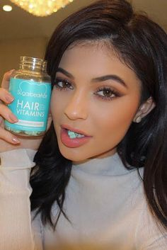 A good friend told me that Sugar Bears were the best and easiest way to grow hair and nails, but I didn't believe her until I saw Kylie Jenner uses them too! Eating vegetarian candy vitamins is my new favorite trend. @jenner0350 @brandeebrown13