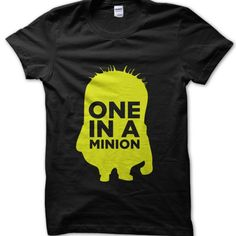 One in a Minion t-shirt by Clique Wear