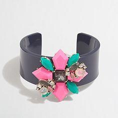 Factory floral gemstone cuff bracelet
