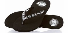 Reef Womens Reef Ginger 30 Yrs Flip Flops - Black/ Womens fashion sandals