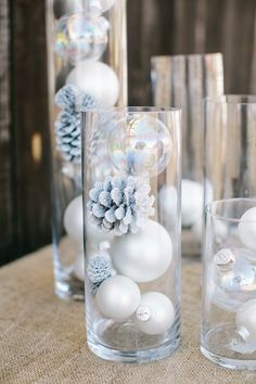 Winter Wonderland Baby Shower : Full Of Fun DIY Winter Decorating Ideas Winter has just begun and everybody is ready to welcome it by doing different decorations. Here are some beautiful diy winter decorating ideas for you to make your winter special. Winter Wonderland Decorations, Easy Christmas Decorations, Winter Wonderland Wedding, Christmas Centerpieces, Winter Decorations, Winter Wonderland Christmas Party, Table Decorations, Baby Shower Winter Wonderland, Snowman Decorations