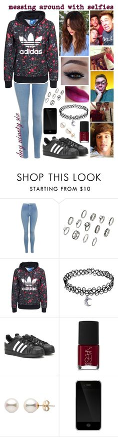 """""""day ninety six, messing around with selfies"""" by roxouu ❤ liked on Polyvore featuring Topshop, adidas Originals, adidas, NARS Cosmetics and Incase"""