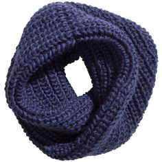 H&M Chunky-knit tube scarf (565 DZD) ❤ liked on Polyvore featuring accessories, scarves, dark blue, circle scarves, round scarf, infinity loop scarves, tube scarves and infinity scarf