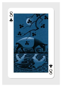 Pc136 - Eight of Clubs by Tony Meeuwissen