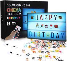 Meilleure lightbox : comparatif des plus belles boîtes lumineuses à led Led Light Box, Light Up, Character Symbols, Lumiere Led, Black Letter, Strobing, Letters And Numbers, Color Change, Remote