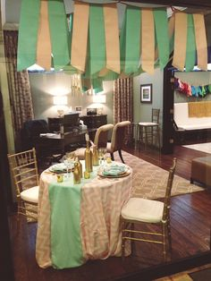statement linen, tablecloths, luxury nashville wedding, liberty party, #nashvillewedding, chevron
