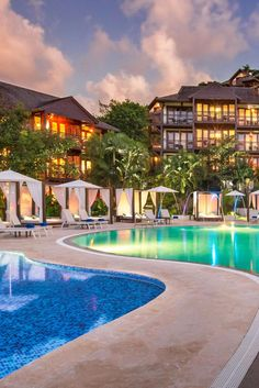 One of the property's three pools has a convenient swim-up bar. Capella Marigot Bay Resort and Marina Saint Lucia (Castries, St. Lucia) - Jetsetter