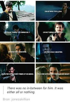 Killian freaking Jones. One of my absolute favourite characters of all time.