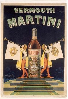 Vintage Italian poster for Vermouth Martini