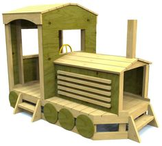 wooden train playset plan for kids