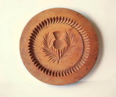 Wooden Butter Cookie Shortbread Press Stamp by MargsMostlyVintage