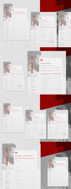 Estimate Template InDesign INDD - A4 and US Letter Size Estimate - estimating spreadsheet template