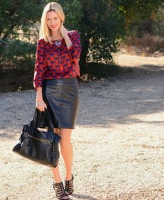 The Stylish Housewife - Leather Skirt