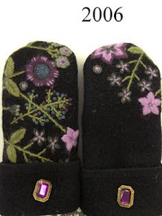 All mittens are made from recycled wool sweaters and lined with polyester fleece. Sweater Mittens, Baby Sweaters, Wool Sweaters, Wool Felt, Felted Wool, Felted Scarf, Needle Felting Tutorials, Recycled Sweaters, Felted Slippers