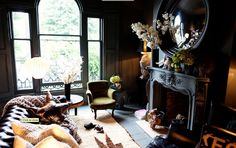 bohemian goth living room