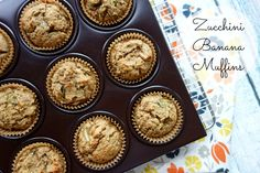 Zucchini Banana Muffins are a delicious way to use your garden zucchini and over-ripe bananas. These muffins are grain/gluten-free, dairy-free, and Paleo!