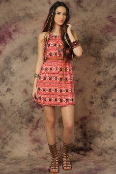 Maia Printed #Dress Funky Soul