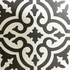 Georgia, Quatrefoil Black and White, Perini Tiles.