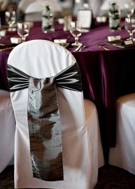 Sash tie for chair covers