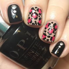 Maintain the shine of this edgy cheetah inspired nail art when you use these must-haves from the OPI Infinite Shine System. See the 5 step how-to and recreate this for your nails.