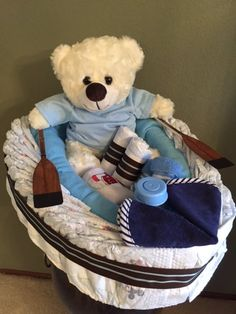 Photo of Bob's Foam Factory - Fremont, CA, United States. This is our Diaper Fishing Boat. The frame was made with the help of Bob's Foam Factory. Then, we load it up with diapers and baby things.
