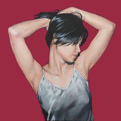 """http://www.piziarte.net/ #Opera #presente NEL #MAGAZZINO_DI_PIZIARTE #ANTONELLA_CINELLI """" Donnabel n. 2 """", 2012 olio e acrilico su tela, cm 35 x 35  #artecontemporanea #contemporaryart #artista"""