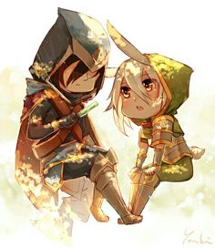 Chibi Talon and Riven