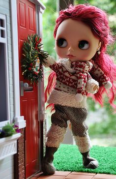 Blythe. Christmas. Curated by Suburban Fandom, NYC Tri-State Fan Events: http://yonkersfun.com/category/fandom/