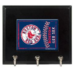 Boston Red Sox MLB Wood Keyhook Rack - FREE SHIPPING $35.00