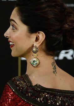 Actress Deepika Padukone Tattoo on Back