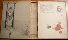 """I can't believe I found this. The original endpapers of the """"Wizard of Oz"""""""