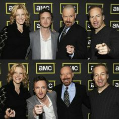 Bob Odenkirk Aaron Paul Anna Gun Bryan Cranston BrBa *from my old tumblr* Breaking Bad Cast, My Heart Is Breaking, Aaron Paul, Bryan Cranston, Say My Name, Best Tv, Movies And Tv Shows, Tv Series, Hollywood