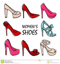shoe illustrations high heels - Google Search