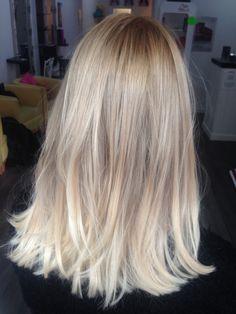 Hot blonde ombré subtle colour melt