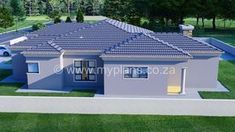 3 Bedroom House Plan – My Building Plans South Africa Single Storey House Plans, Double Garage, Bedroom House Plans, Open Plan Living, Building Plans, Living Area, Mlb, South Africa, How To Plan