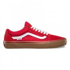 Vans Old Skool Pro Shoes pompeian red/Gum/White - Vans UK Official Online Store