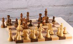 image of hardwood chess board 047