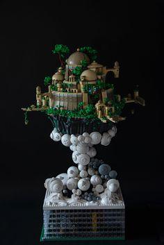 Sky City Fiber Optic Lighting, Amazing Lego Creations, Lego Craft, City Sky, Lego Castle, Castle In The Sky, Lego Design, Lego News, Lego Models
