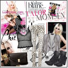 """""""**Talor Momsen...Material Girl**"""" by fashiontake-out on Polyvore"""