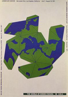 Japanese Poster: In the U.S.A. : Origami. Shigeo Fukuda. 1971