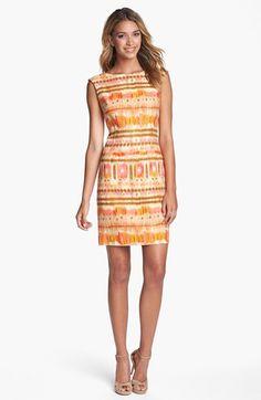6a3a8b8c0be Tahari Ikat Print Sheath Dress available at
