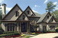 2 story. Extend the side garage to adjoin the other.  Would make it a 4 car. Lose the Keeping Room off the kitchen. Make the kitchen more functional and need a big pantry! Cute elevation! Expand Media Room upstairs... 4th bedroom doesn't need to be so large. Love having another Bonus Room and storage as well. Love the back patio fireplace.