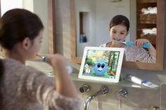 史低!$34.95(was $49.99) 新款兒童聲波電動牙刷(藍牙APP互動款) 要從小養成良好刷牙習慣唷 4.7星的評價唷  Philips Sonicare for Kids Connected Sonic Electric Toothbrush, HX6321/02