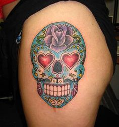 Day-of-the-Dead-Skull-Tattoo