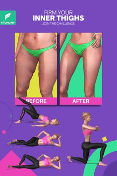 If your goal is to tone the inner thigh, give it a try to these four simple exercises to firm up your inner thighs by only using your own body weight. # Fitness videos FIRM YOUR INNER THIGHS Gym Workout Videos, Butt Workout, Easy Workouts, At Home Workouts, Workout Routines, Fitness Herausforderungen, Fitness Workout For Women, Chest Workout Women, Yoga Bewegungen
