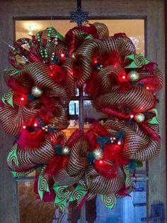 A personal favorite from my Etsy shop https://www.etsy.com/listing/481683894/lollipop-lane-wreath