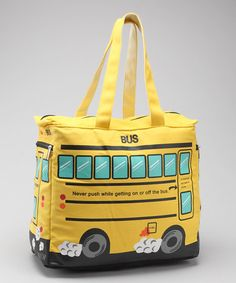 Take a look at this Yellow School Bus Tote by Sleepyville Bags on #zulily today!