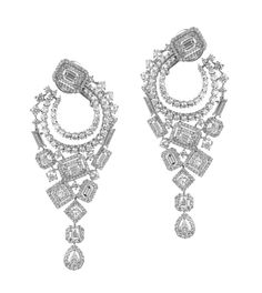 Fancy Shape diamonds earrings